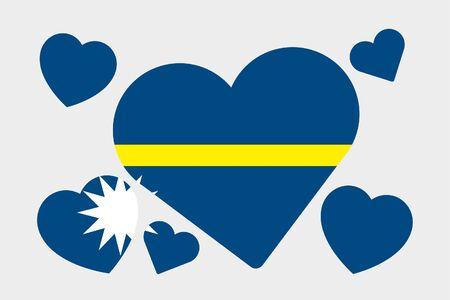 nauru: A 3D Isometric Flag Illustration of the country of Nauru
