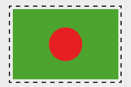 bangladesh 3d: A 3D Isometric Flag Illustration of the country of Bangladesh