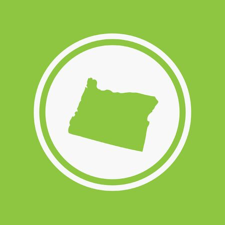 oregon: A Map of the the state Oregon Stock Photo