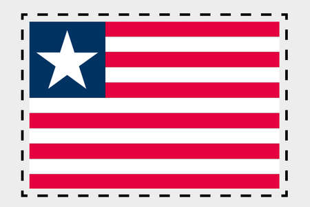 liberia: A 3D Isometric Flag Illustration of the country of Liberia Stock Photo