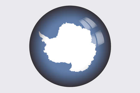 antartica: A 3D Isometric Flag Illustration of the country of Antartica Stock Photo