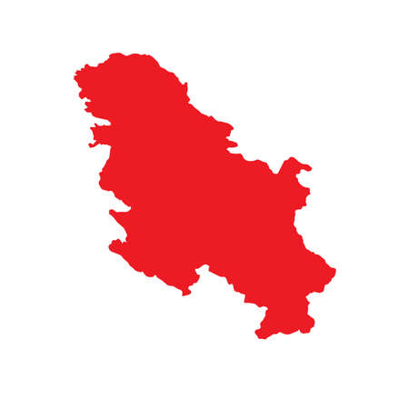 serbia: A Map of the country of Serbia