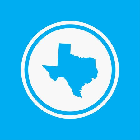 texas: A Map of the the state Texas Stock Photo