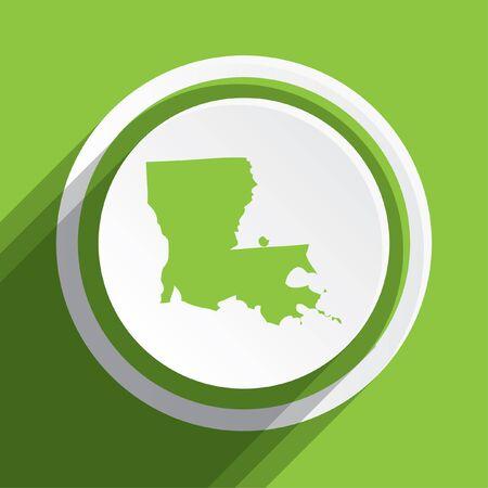 louisiana: A Map of the the state Louisiana