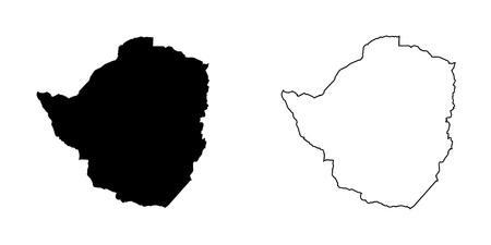 zimbabue: Un mapa del pa�s de Zimbabwe