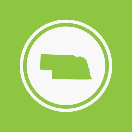 nebraska: A Map of the the state Nebraska Stock Photo