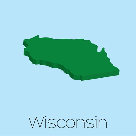 state wisconsin: A Map of the the state Wisconsin