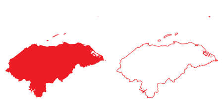 country: A Map of the country of Honduras