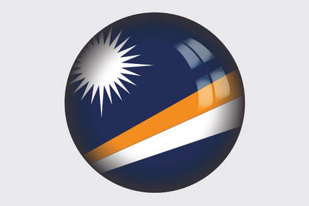 marshall: A 3D Isometric Flag Illustration of the country of Marshall Islands