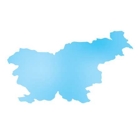 country: A Map of the country of Slovenia Stock Photo