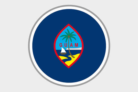 guam: A 3D Isometric Flag Illustration of the country of Guam