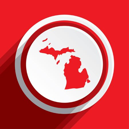 地図、ミシガン州