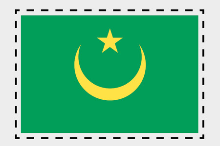 mauritania: A 3D Isometric Flag Illustration of the country of Mauritania