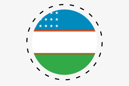 uzbekistan: A 3D Isometric Flag Illustration of the country of Uzbekistan Stock Photo