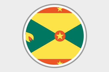 grenada: A 3D Isometric Flag Illustration of the country of Grenada