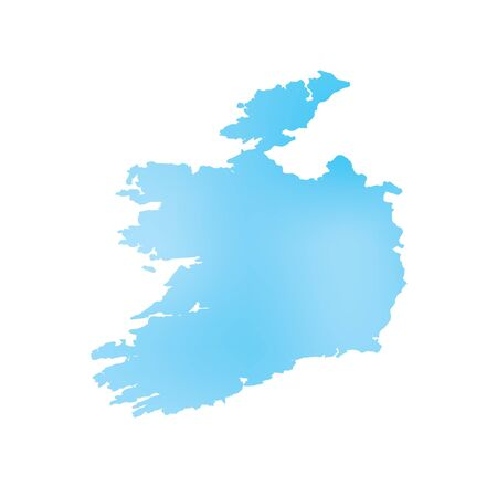 country: A Map of the country of Ireland Stock Photo