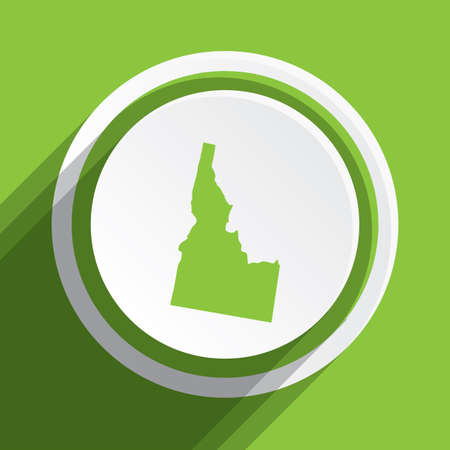 idaho: A Map of the the state Idaho Stock Photo
