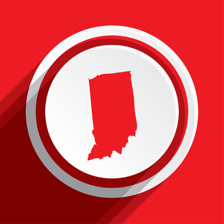 indiana: A Map of the the state Indiana Stock Photo