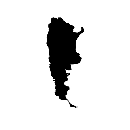 country: A Map of the country of Argentina Stock Photo