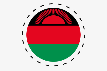 malawi: A 3D Isometric Flag Illustration of the country of Malawi