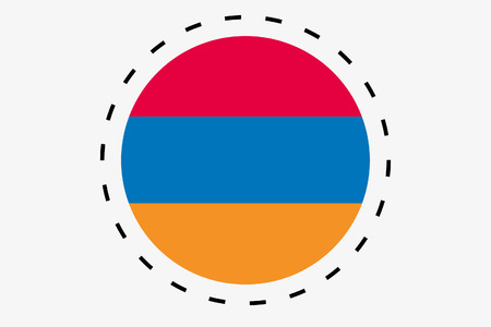 armenia: A 3D Isometric Flag Illustration of the country of Armenia
