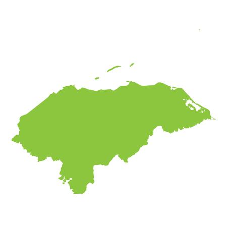 honduras: A Map of the country of Honduras