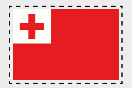 tonga: A 3D Isometric Flag Illustration of the country of Tonga