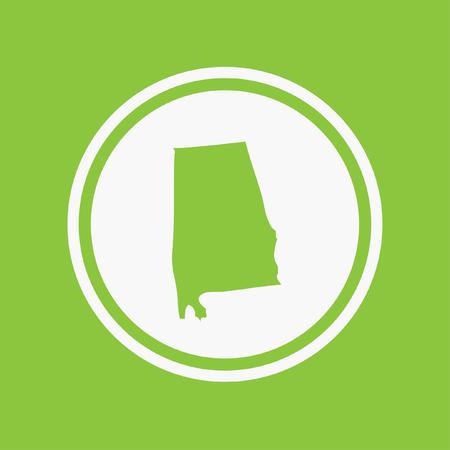 alabama: A Map of the the state Alabama
