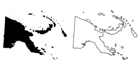 papua new guinea: A Map of the country of Papua New Guinea