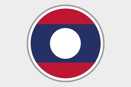 laos: A Flag Illustration of the country of Laos