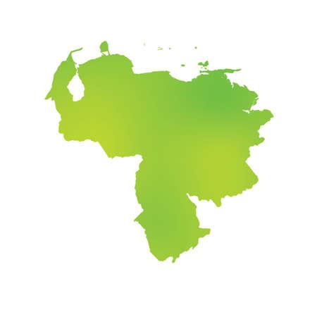 mapa de venezuela: Un mapa del país de Venezuela