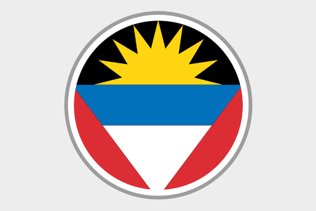 barbuda: A Flag Illustration of the country of Antigua and Barbuda