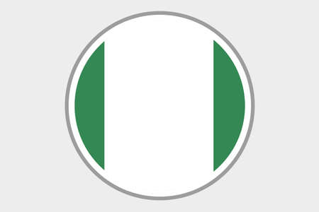 country nigeria: A Flag Illustration of the country of Nigeria