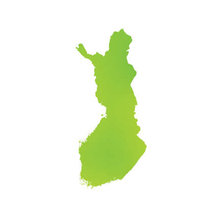 finland: A Map of the country of Finland