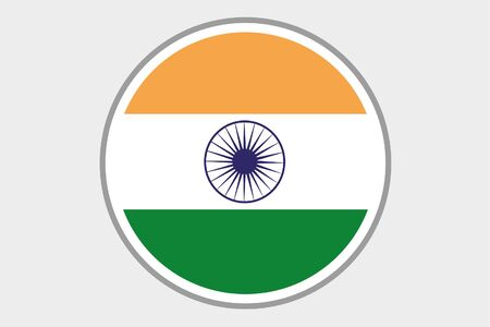 india 3d: A Flag Illustration of the country of India Stock Photo