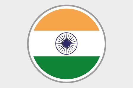 bandera de la india: Una ilustración de la bandera del país de la India
