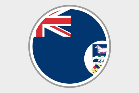 falkland: A Flag Illustration of the country of Falkland Islands
