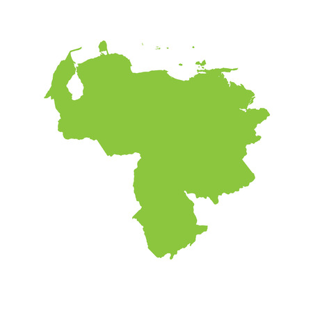 venezuela: A Map of the country of Venezuela Stock Photo