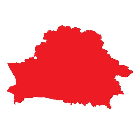belarus: A Map of the country of Belarus