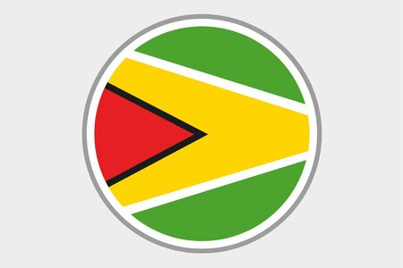 guyana: A Flag Illustration of the country of Guyana Stock Photo