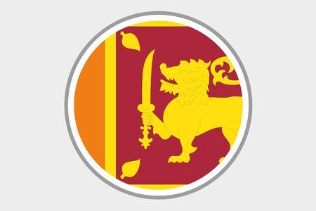 sri: A Flag Illustration of the country of Sri Lanka
