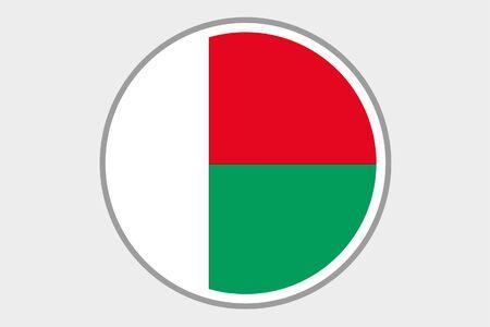 madagascar: A Flag Illustration of the country of Madagascar Stock Photo