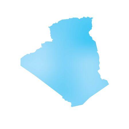 algeria: A Map of the country of Algeria