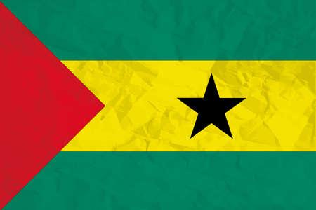 A Flag Illustration of the country of Sao Tome E Principe