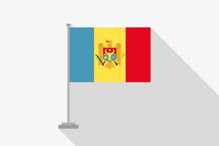 moldova: A Flag Illustration of the country of Moldova