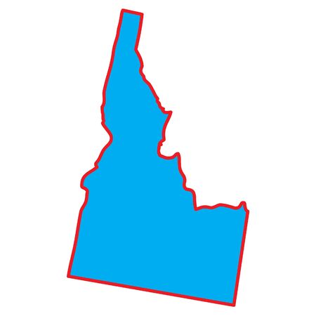 idaho: A Map of the the state  Idaho