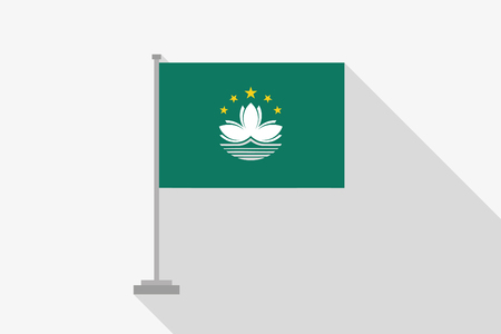 macau: A Flag Illustration of the country of Macau
