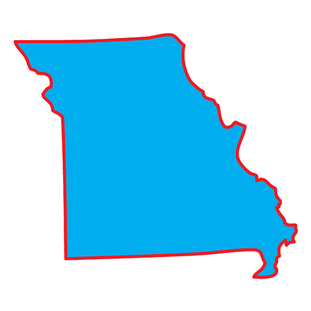 A Map of the the state  Missouri