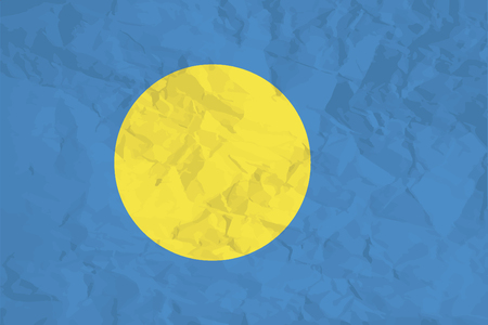 palau: A Flag Illustration of the country of Palau