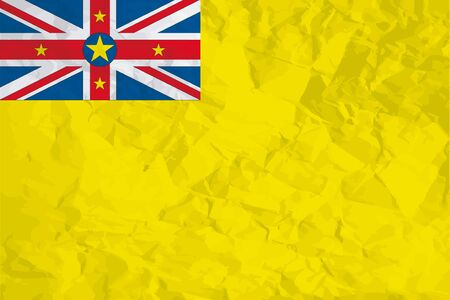 niue: A Flag Illustration of the country of Niue